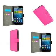 Huawei Ascend G7 - Wallet Bookstyle Case Lederlook Roze
