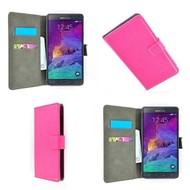 Samsung Galaxy Note 4 - Wallet Bookstyle Case Lederlook Roze