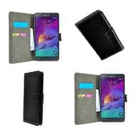 Samsung Galaxy Note 4 - Wallet Bookstyle Case Lederlook Zwart