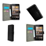 Huawei Ascend G6 - Wallet Bookstyle Case Lederlook Zwart