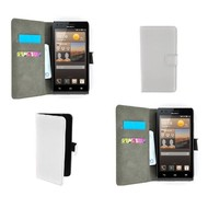 Huawei Ascend G6 - Wallet Bookstyle Case Lederlook Wit