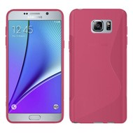Samsung Galaxy Note 5 - Tpu Siliconen Case Hoesje S-Style Roze