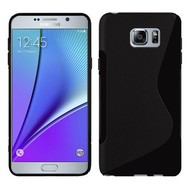 Samsung Galaxy Note 5 - Tpu Siliconen Case Hoesje S-Style Zwart