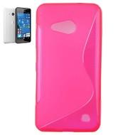 Microsoft Lumia 550 -Tpu Siliconen Case Hoesje S-Style Roze