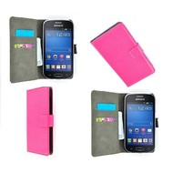 Samsung Galaxy Trend Lite (Fresh) - Wallet Bookstyle Case Lederlook Roze