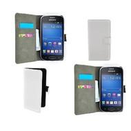 Samsung Galaxy Trend Lite (Fresh) - Wallet Bookstyle Case Lederlook Wit