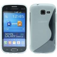 Samsung Galaxy Trend Lite ( Fresh) - Tpu Siliconen Case Hoesje S-Style Transparant