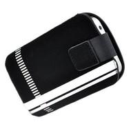 Samsung Galaxy Fame - Insteekhoesje Cover Zwart Witte Strepen