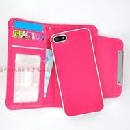 Apple Iphone 6S - Wallet Bookstyle Case Uitneembaar Hoesje Roze