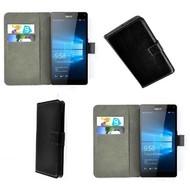 Microsoft Lumia 950 XL - Wallet Bookstyle Case Lederlook Zwart