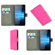 Microsoft Lumia 950 XL - Wallet Bookstyle Case Lederlook Roze