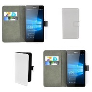 Microsoft Lumia 950 XL - Wallet Bookstyle Case Lederlook Wit