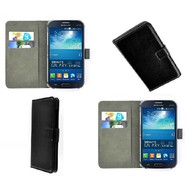 Samsung Galaxy Grand Neo Plus - Wallet Bookstyle Case Lederlook Zwart