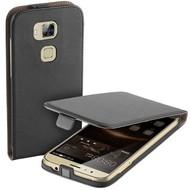 Huawei G8 - Flip Case Cover Hoesje Lederlook Zwart