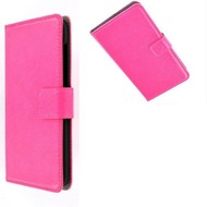 Samsung Galaxy Trend - Wallet Bookstyle Case Lederlook Roze