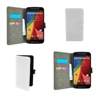 Motorola Moto G - Wallet Bookstyle Case Lederlook Wit