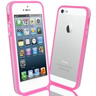 Apple Iphone 5 / 5S - Siliconen Bumper Case Transparant Roze