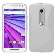 Motorola Moto G (3rd gen) 2015 - Tpu Siliconen Case Hoesje S-Style Wit