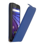 Motorola Moto G (3rd gen) 2015 - Flip Case Cover Hoesje Leder Blauw