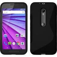 Motorola Moto G Turbo Edition - Tpu Siliconen Case Hoesje S-Style Zwart