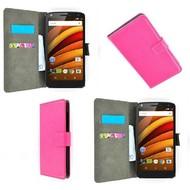 Motorola Moto X Force - Wallet Bookstyle Case Lederlook Roze