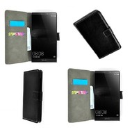 Huawei Mate 8 - Wallet Bookstyle Case Lederlook Zwart