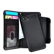 Apple iPhone 5 / 5S - Wallet Bookstyle Case Uitneembaar Hoesje Zwart