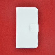Apple iPhone 5 / 5S - Wallet Bookstyle Case Lederlook Wit