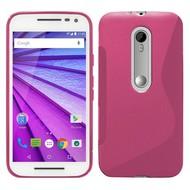 Motorola Moto X Force - Tpu Siliconen Case Hoesje S-Style Roze