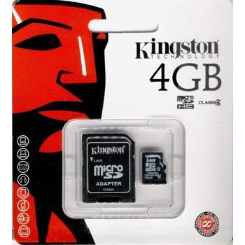 Kingston Micro SDHC 4GB Geheugenkaart