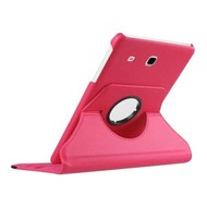 Samsung Galaxy Tab E (9.6) - Hoes 360° Draaibare Case Lederlook Roze