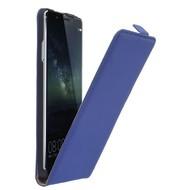Huawei Mate S - Flipcase Cover Hoesje Leder Blauw