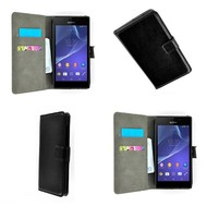 Sony Xperia Z4 - Wallet Bookstyle Case Zwart