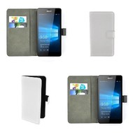 Microsoft Lumia 550 - Wallet Bookstyle Case Lederlook Wit
