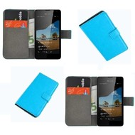 Microsoft Lumia 550 - Wallet Bookstyle Case Lederlook Turquoise