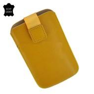 Samsung Galaxy S3 Mini - Insteekhoesje Cover Leder Geel