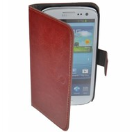 Samsung Galaxy S3 Mini - Wallet Bookstyle Case Bruin