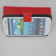 Samsung Galaxy S3 - Wallet Bookstyle Case Lederlook Rood