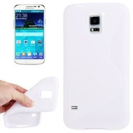 Samsung Galaxy S5 Plus - Tpu Siliconen Case Hoesje S-Style Wit
