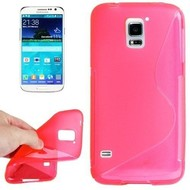 Samsung Galaxy S5 Plus - Tpu Siliconen Case Hoesje S-Style Roze