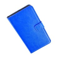 Samsung Galaxy S5 Plus - Wallet Bookstyle Case Lederlook Blauw