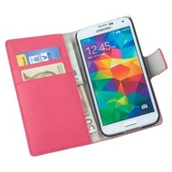 Samsung Galaxy S5 Plus - Wallet Bookstyle Case Y Roze