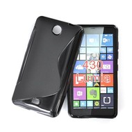 Microsoft Lumia 430 - Tpu Siliconen Case Hoesje S-Style Zwart