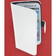 Samsung Galaxy S4 - Wallet Bookstyle Case Lederlook Wit
