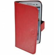 Samsung Galaxy S4 - Wallet Bookstyle Case Lederlook Rood