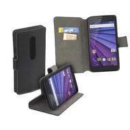Motorola Moto G (3rd gen) 2015 - Bookstyle Y Case Zwart