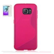 Samsung Galaxy A9 (2016) - Tpu Siliconen Case Hoesje S-Style Roze