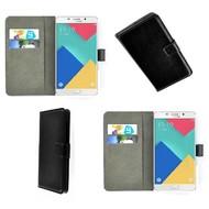 Samsung Galaxy A9 (2016) - Wallet Bookstyle Case Lederlook Zwart