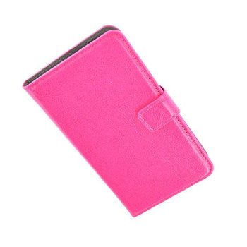 HTC One Mini - Wallet Bookstyle Case Lederlook Roze