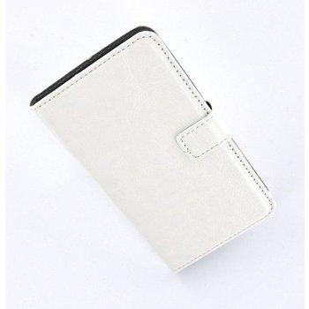 HTC One Mini - Wallet Bookstyle Case Lederlook Wit